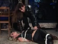 Girl tied and punish another