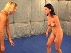 Female erotic wrestling