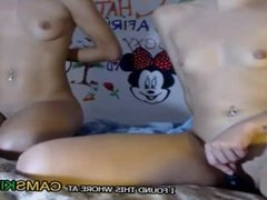 two young sexy girls masturbated for tips on webcam