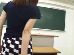 japanese teacher in too short miniskirt let us see upskirt panty shot!
