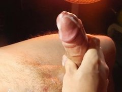 Hot cum load spreading allover my cock