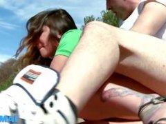 Hot Shaven Girl Gets Banged In Public