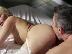 Pretty Blonde moans while being fucked