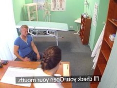 Hot sex on the examination table with a sexy nurse