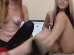 two hot girls on webcam watched on teen cam bate.