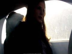 Girl Smoking In Car