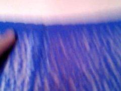 Cummings on Harpy's blue lace panties