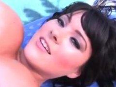 Rachel Aldana blue bikini