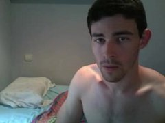 Pretty guy show his cock and ass on webcam