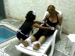 Brazil tickling - The maid is a crazy tickler