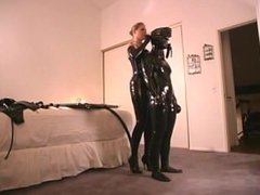 Rubber clad submissive