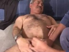 Japanese Daddy Gets Jerked Off