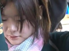 Ai Mashiro japanese schoolgirl seduces fucks and suck businessman