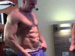 Huge Bodybuilder Wrestling in a Hotel Room