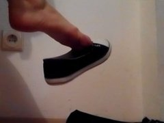 Feet play with sexy italian amateur teen