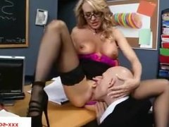 Big titted school girl gets fucked in her mouth