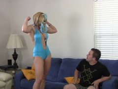masked goddess rapture catched guy jerking off and kicks his balls