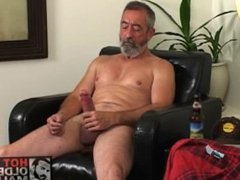 Daddy big cock jerking off