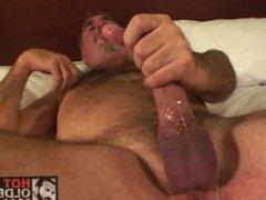 Bear daddy jerks off
