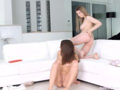 Christmas Came Late on Sapphic Erotica Henessy and Stella Cox play with the