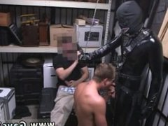 Straight biker cock gay Dungeon master with a gimp