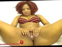African Red Bone Spreads Ass and Pussy