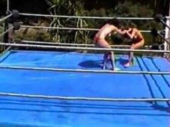 female wrestling, Lisa vs heldi