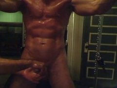 Arms cuffed up, shaved, oiled, stroked and edged