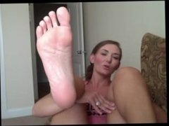 Hot milf showing her sexy soles