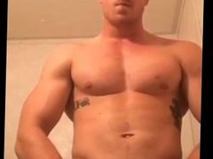 Muscle Jack off and hole Show off
