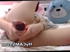 Teen In Stockings Masturbating