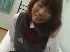 Misa Kurita hot Asian teen is fondled fingered and fucked
