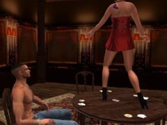 Fred Adjani rencontre la belle et sexy Xena en mini robe rouge danse et sex