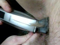 Shaving my wife