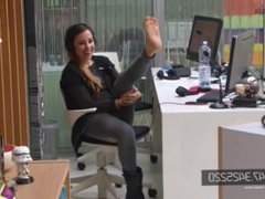 Girl Takes Off Her Sock On Radio Show