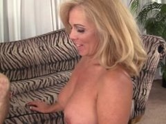 Granny Crystal Taylor gets her pussy drilled for the first time on camera