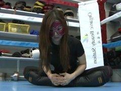 Japanese mistress Kaede kickboxing domination part 1