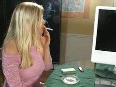 Blonde Milf Charlotte Needs a Smoke