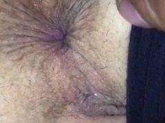 Close up of MILF Pussy, ass & feet.