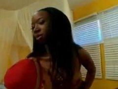 Ebony Chick Pegging her Boytoy