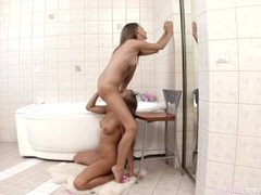 Hot lesbian action in the bath with Milka and Misha by Sapphic Erotica