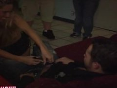 drunk college girl gets ass fucked at party!