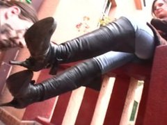 Dirty boots licking