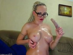 My sexy clothes and oiled boobs make your dick hard