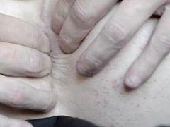 Closeup of anal fingering, perhaps too close, my anus takes half the screen