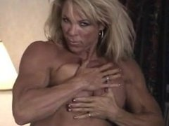 FBB sexy muscle on the bed