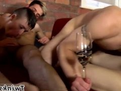 Seeing a white gay twink naked full length The Party Comes To A Climax!