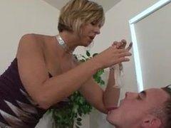 brianna beach strap on her slave