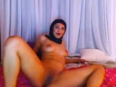 Muslim Hijab Girl on Webcam