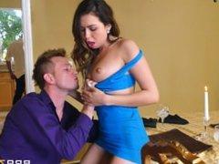 Dinner For Sluts - Riley Reid And Melissa Moore Swap Cocks